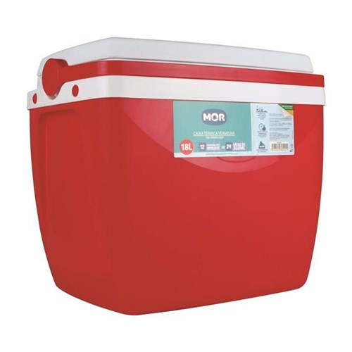 Caixa Térmica 18 Litros Mor Vermelho