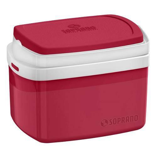 Caixa Térmica 5 Litros Vermelha - Soprano