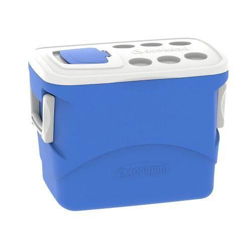 Caixa Termica Isopor 50l Azul Soprano