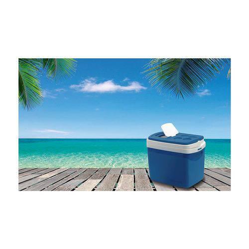 Caixa Térmica 32L Azul Tropical Soprano