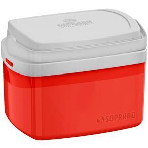 Caixa Térmica Soprano Tropical 5 Litros Vermelho