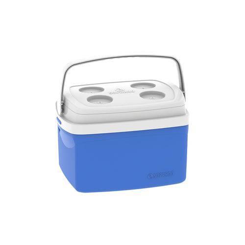Caixa Térmica Tropical 12 Litros Azul com Alça Soprano