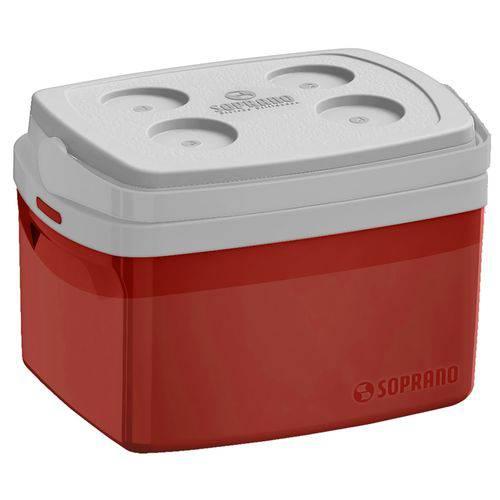 Caixa Térmica Tropical 12 Litros Vermelha com Alça Soprano