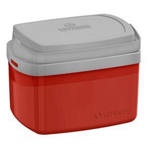 Caixa Termica Tropical 5 Litros Vermelha - Soprano