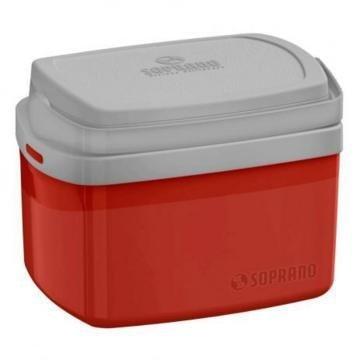 Caixa Térmica Tropical 5 Litros Vermelha Soprano