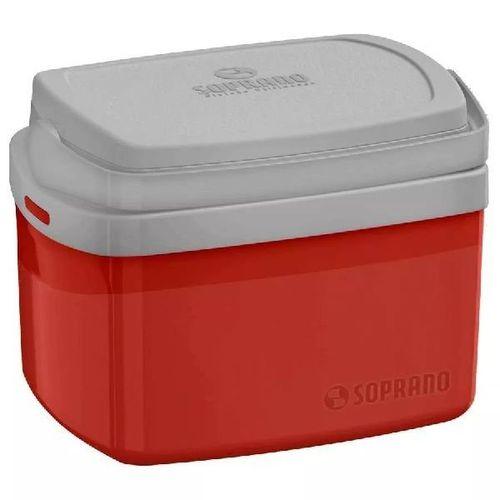 Caixa Termica Tropical 5 Litros Vermelho Soprano 5061.17