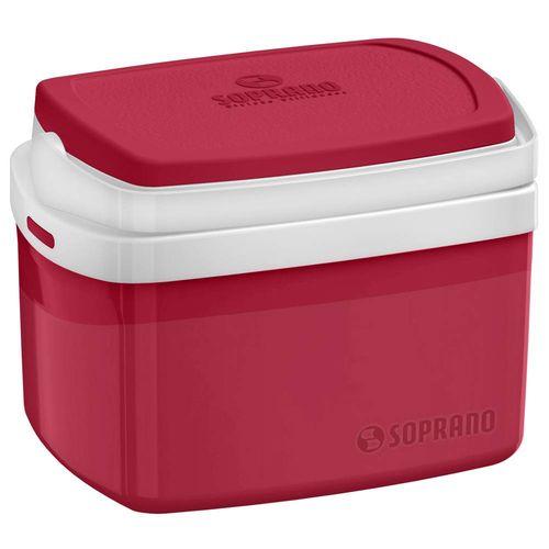 Caixa Térmica Tropical 5l Vermelha - Soprano