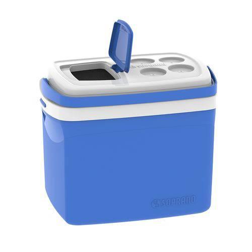 Caixa Térmica Tropical 32 Litros Azul com Alça Soprano