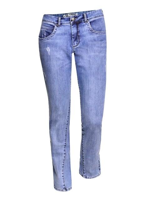 Calça Cigarrete Boyfriend Jeans Azul