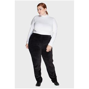 Calça Clean Plus Size - PRETO - 48
