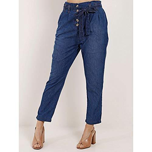 Calça Clochard Jeans Feminina Azul 40