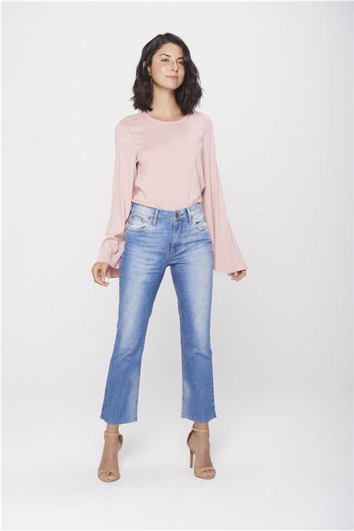 Calça Cropped Jeans Cintura Alta