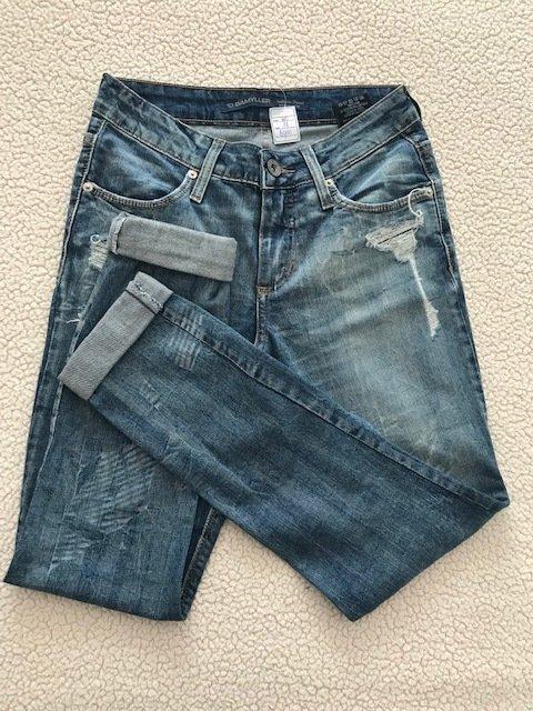 Calça Damyller Jeans Boyfriend (Azul, Damyller, 38)