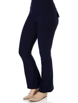 Calça de Tecido Feminina Azul Marinho