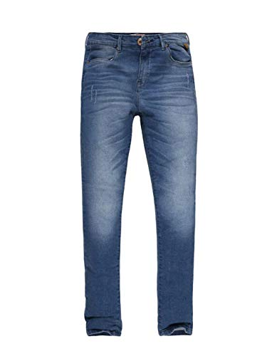 Calça Feminina Jeans Cintura Alta Khelf