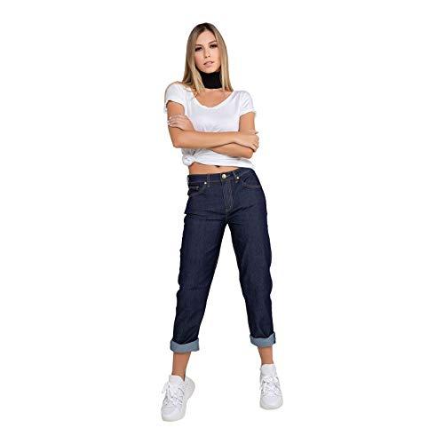 Calça Feminina Mom - Jeans - 34
