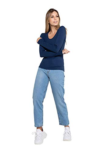 Calça Feminina Mom - Jeans - 42