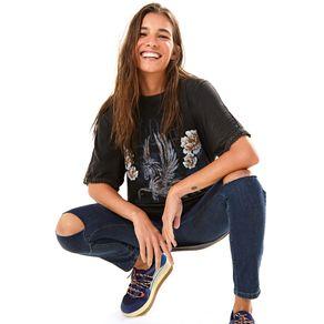 Calça Flare Escura S Jeans - 42