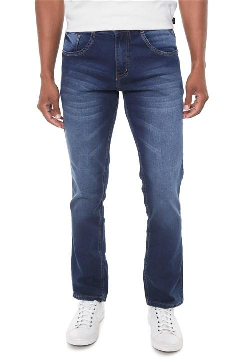 Calça Jeans Biotipo Slim Estonada Azul