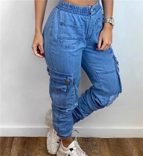 Calça Jeans Bolsos (Azul, 36)