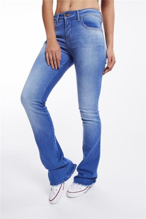 Calça Jeans Bootcut (Indigo, 34)