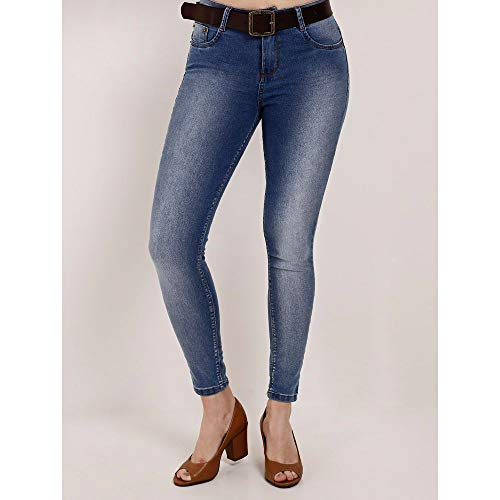 Calça Jeans Cigarrete Feminina Azul 40