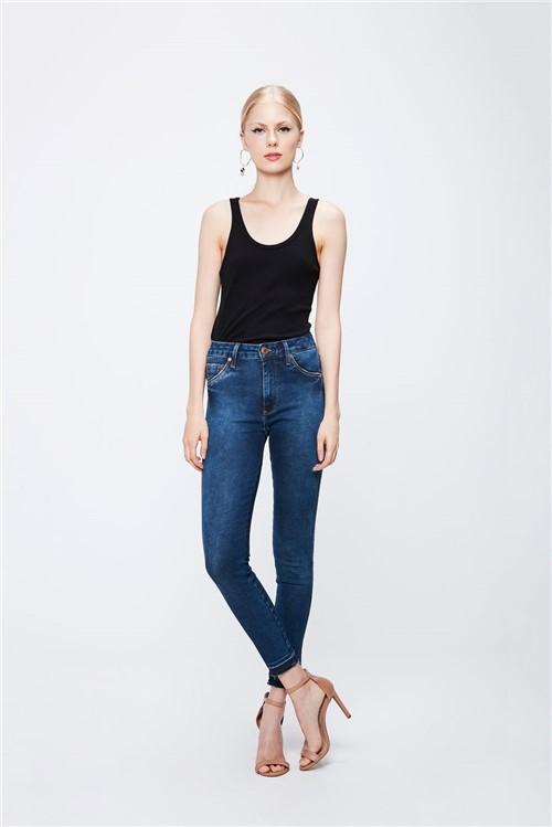 Calça Jeans com Cintura Alta Feminina