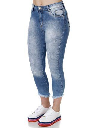 Tudo sobre 'Calça Jeans Cropped Feminina Azul'