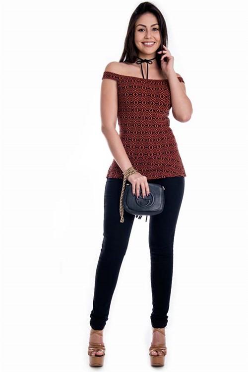 Calça Jeans de Cintura Alta CL0357 - 34