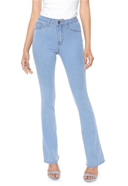 Calça Jeans Denuncia Bootcut Pespontos Azul