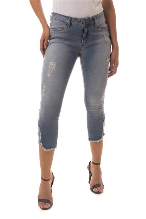 Calça Jeans Denuncia Skinny Cropped Azul (Azul, 34)