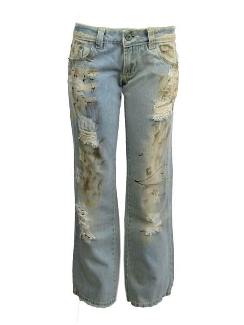 Calça Jeans Destroyed Bintang (Azul, 36, Bintang)