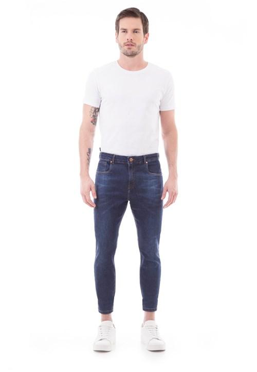 Calça Jeans Drazzo Cropped Azul