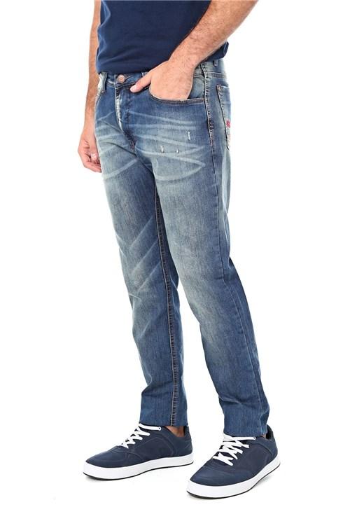 Calça Jeans Ecko Slim Destroyed Azul
