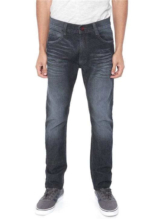 Calça Jeans Ecko Slim Estonada Azul-marinho