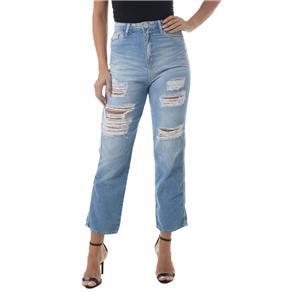 Calça Jeans Eventual Mom Azul - Azul Royal - 40
