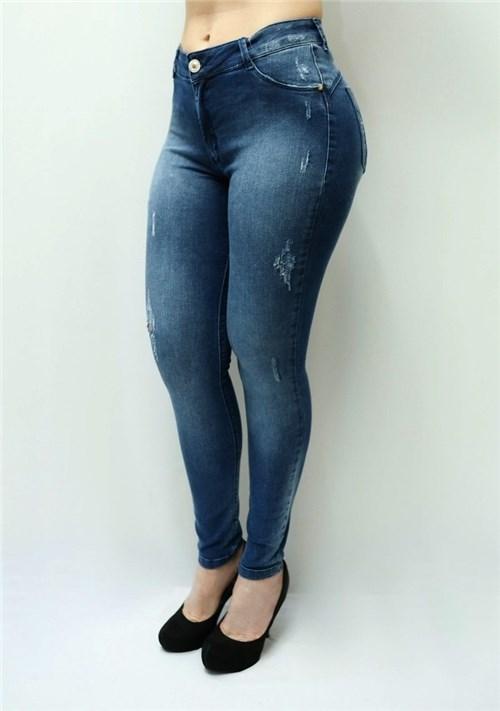 Calça Jeans Feminina Cintura Alta F4985 (34)