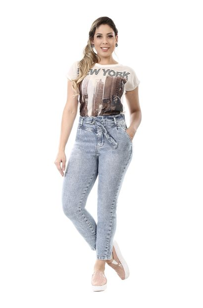 Calça Jeans Feminina Mom - 260331 34
