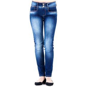 Calça Jeans Feminina Second Skin Lança Perfume - Tamanho 44 - Azul