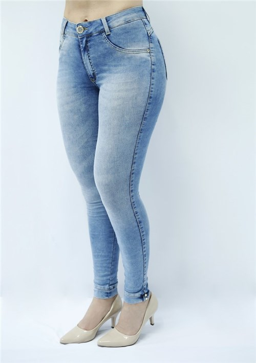 Calça Jeans Feminina Skinny Cintura Alta - F4958 (38)