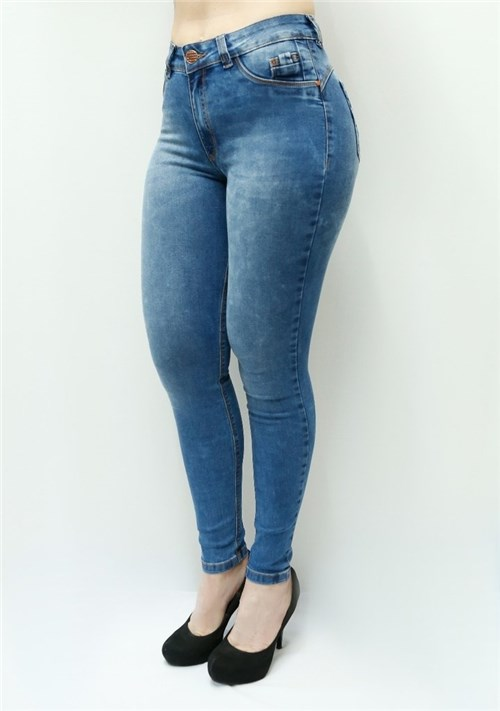 Calça Jeans Feminina Skinny Cintura Alta F4974 (34)