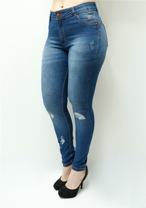 Calça Jeans Feminina Skinny Cintura Alta F4976 (34)