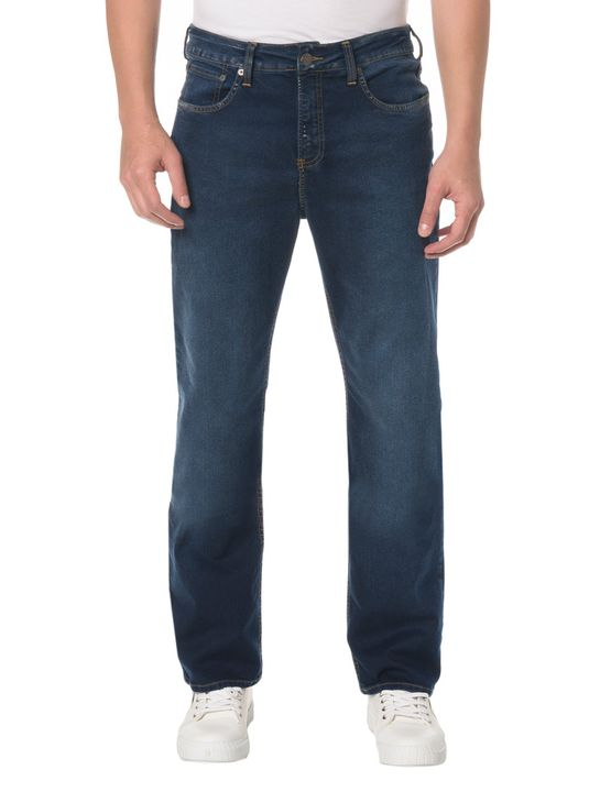 Tudo sobre 'Calça Jeans Five Pockets Relaxed Straight - 38'