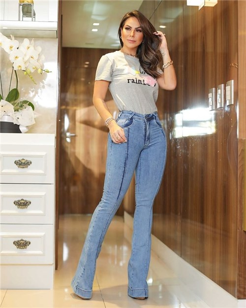 Calça Jeans Flare Cintura Alta 24451 (36)