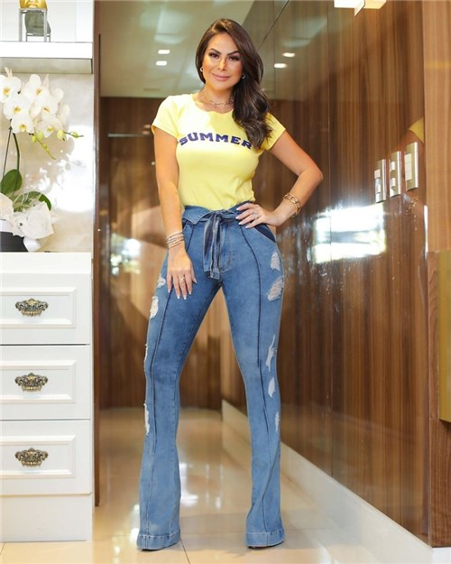 Calça Jeans Flare Cintura Alta 2325 (36)