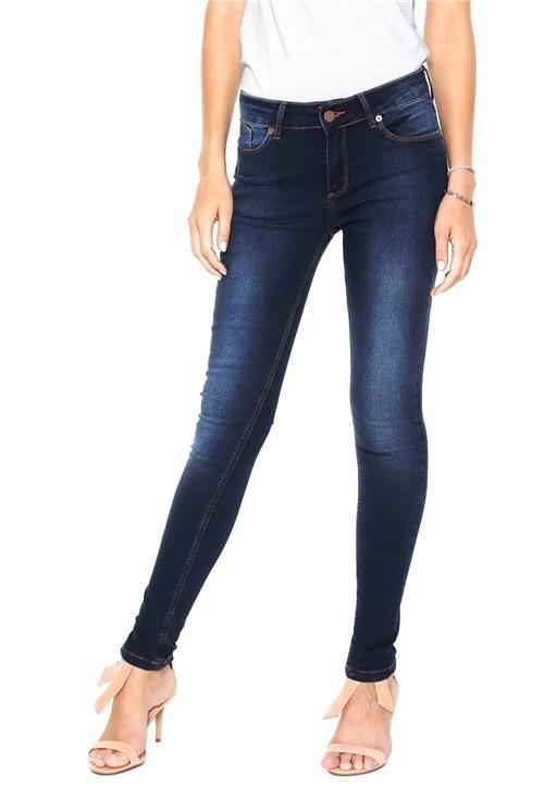 Calça Jeans Guess Skinny Baixa Azul