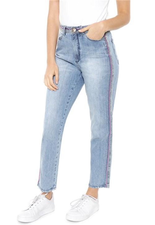 Calça Jeans Hering Reta Bordado Azul