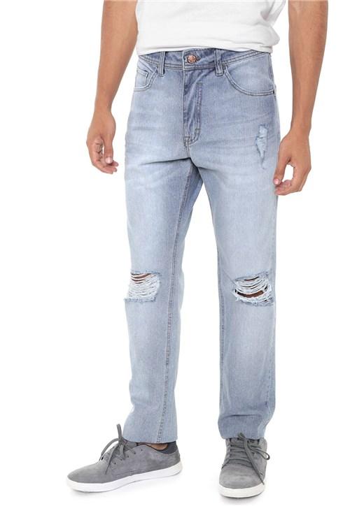 Calça Jeans ...Lost Slim Destroyed Azul