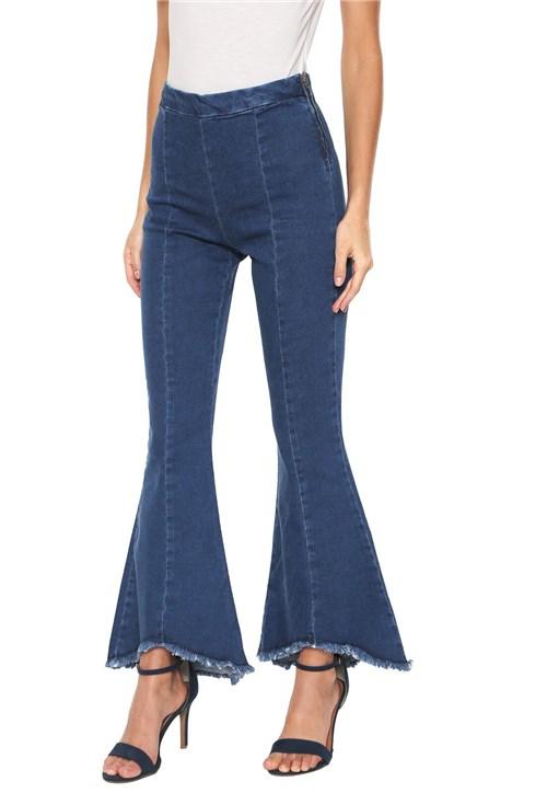 Calça Jeans Lunender Cropped Flare Azul