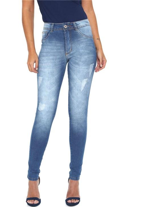 Calça Jeans Média Biotipo Cigarrete Azul